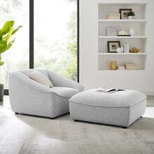 Comprise 2-Piece Living Room Set in Light Gray