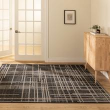 See Details - Vito - Minimalist Lines Area Rug, Black, 5' x 8'