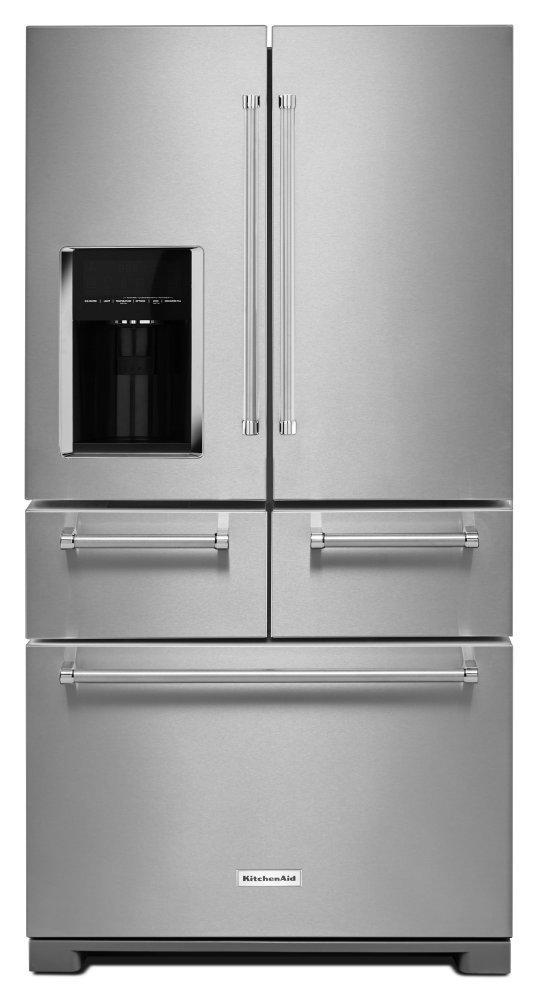 "KitchenAid25.8 Cu. Ft. 36"" Multi-Door Freestanding Refrigerator With Platinum Interior Design - Stainless Steel"