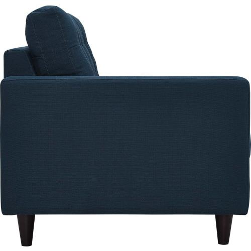 Modway - Empress Left-Facing Upholstered Fabric Loveseat in Azure