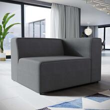 Mingle Fabric Right-Facing Sofa in Gray
