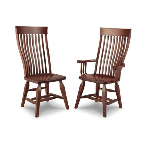 Handstone - Florence Side Chair With Wood Seat Only