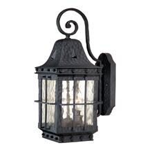 "Edinburgh 7"" Outdoor Wall Light Textured Black"