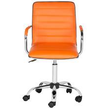 See Details - Jonika Swivel Desk Chair - Orange