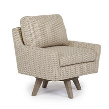 SEYMOUR Swivel Barrel Chair in Metal Fabric