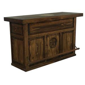 L.M.T. Rustic and Western Imports - Medio finish Bar with Star and Stone Star on Top