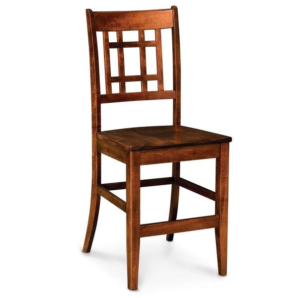 """See Details - Campbell Stationary Barstool, Fabric Cushion Seat / 30"""" Seat Height"""