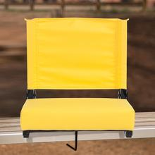 See Details - Grandstand Comfort Seats by Flash - 500 lb. Rated Lightweight Stadium Chair with Handle & Ultra-Padded Seat, Yellow