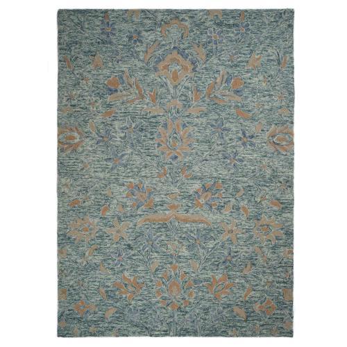 "Gallery - Athena-Floral Aqua Blue - Rectangle - 27"" x 45"""