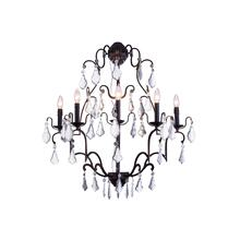 See Details - Charlotte Collection Wall Lamp W:28 H:36 E12 Lt:5 Antique Bronze Finish Clear Royal Cut crystal