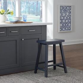24 Inch Sawhorse Counter Stool- Navy