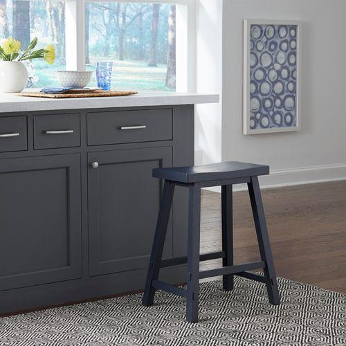 Liberty Furniture Industries - 24 Inch Sawhorse Counter Stool- Navy