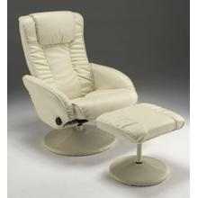 Bone Recliner and Ottoman