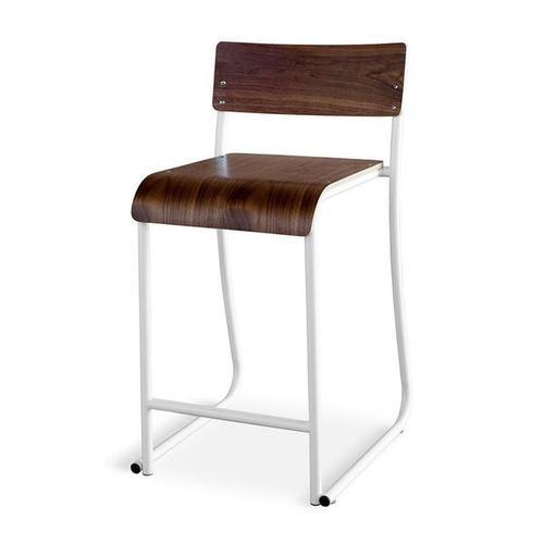 Product Image - Church Stool Walnut/white