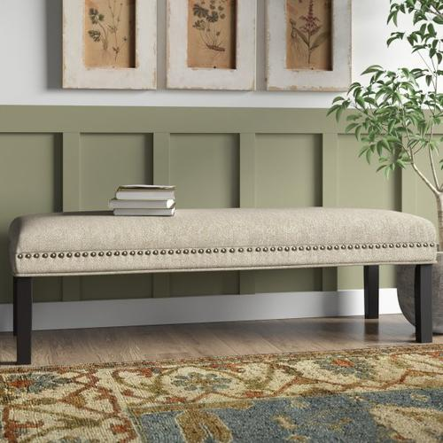 Accentrics Home - Upholstered End of Bed Bench in Linen