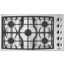 "Brushed Stainless Steel 36"" Drop-in Cooktop"