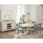 Bella Grigio - Upholstered Side Chair - Chipped Gray Finish