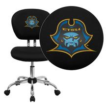 East Tennessee State University Buccaneers Embroidered Black Mesh Task Chair with Chrome Base