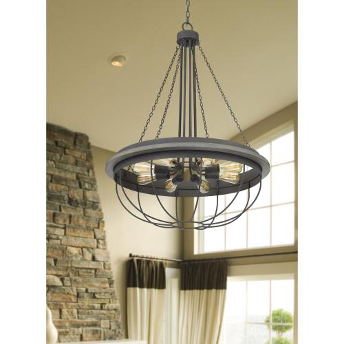 60W x 8 Nixa metal chandelier (Edison bulbs NOT included)