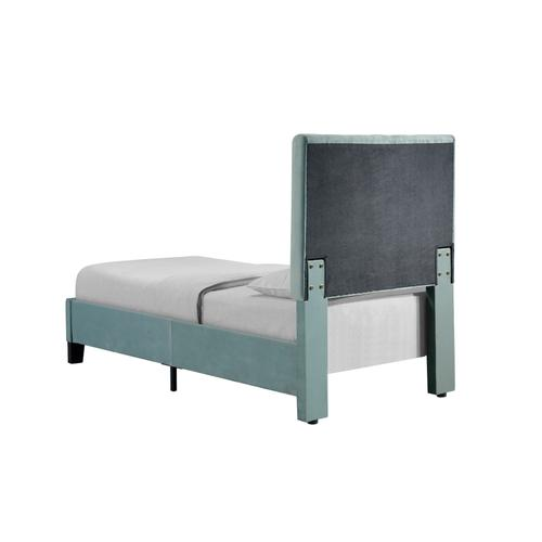 Amelia Twin Upholstered Bed, Light Blue B128-08hbfbr-04