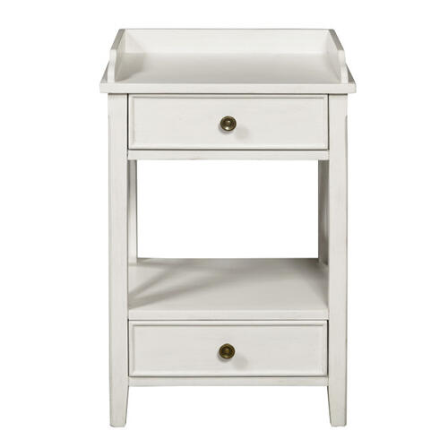 Accentrics Home - Two Drawer X Side End Table in Country White