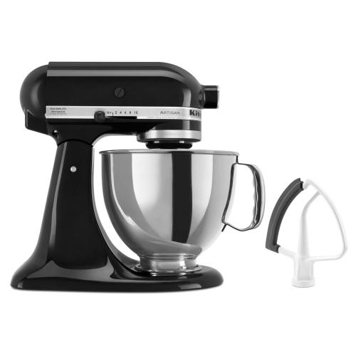 Value Bundle Artisan® Series 5 Quart Tilt-Head Stand Mixer with Flex Edge Beater - Onyx Black
