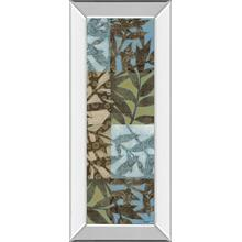 """Leaves I"" Mirror Framed Print Wall Art"