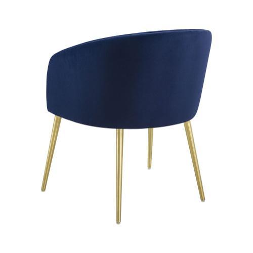 Arya Performance Velvet Navy Dining Chair