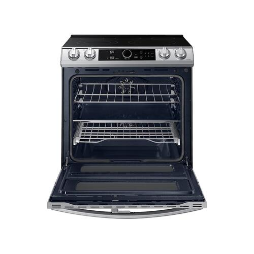 6.3 cu. ft. Flex Duo™ Front Control Slide-in Electric Range with Smart Dial, Air Fry & Wi-Fi in Stainless Steel
