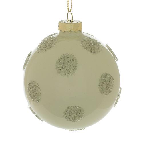 "3"" Silver Polka Dot Ornament"