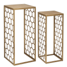 Gold Honeycomb Nested Side Table (2 pc. set) Product Image