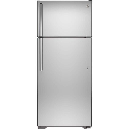 GE® Energy Star 18 Cu. Ft. Top-Freezer Refrigerator Stainless Steel - GTE18FSLKSS