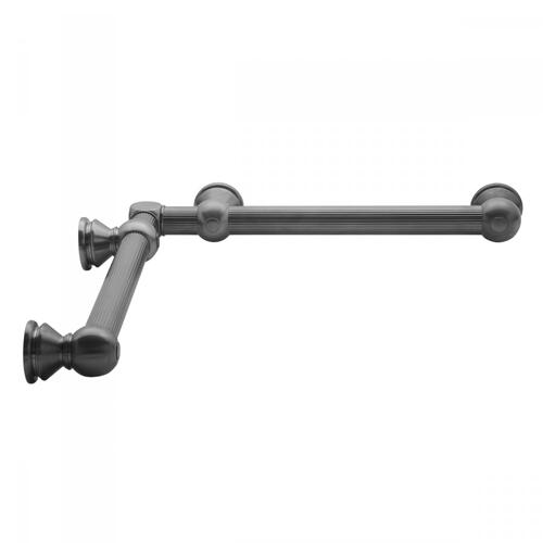 "Pewter - G33 24"" x 32"" Inside Corner Grab Bar"