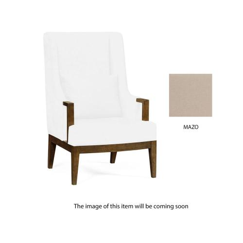 Lounge chair, upholstered in Mazo