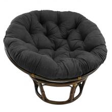 Bali 42-inch Rattan Papasan Chair with Microsuede Fabric Cushion - Walnut/Black