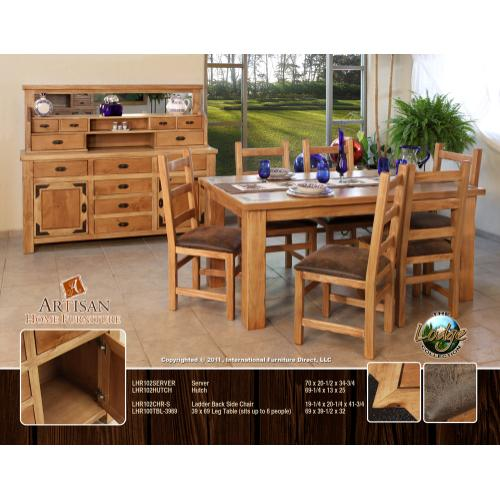 Artisan Home Furniture - 39 x 69 Leg Table (sits up to 6 people)