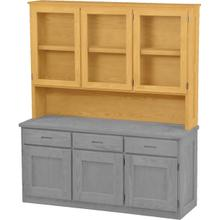 See Details - Triple Hutch, with Glass Doors