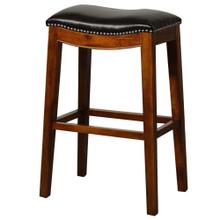Elmo Bonded Leather Bar Stool, Black