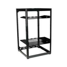 "Black 35"" Tall AV Rack 20U Stackable Skeleton Rack"