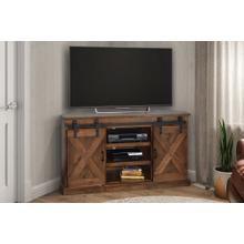 """View Product - Farmhouse 66"""" Corner TV Console in an Aged Whiskey finish     (FH1412-AWY,53047)"""
