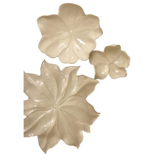 Magnolia Platter-Ivory-Lg