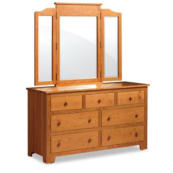 See Details - Shaker 7-Drawer Dresser, 69 'w x 21 'd x 33 'h