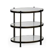 Small glomise & Bronze Iron Three-Tier Table