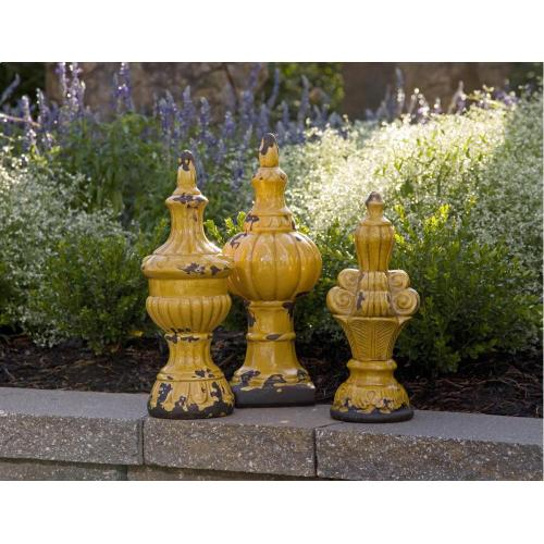 Canary Finials - Set of 3