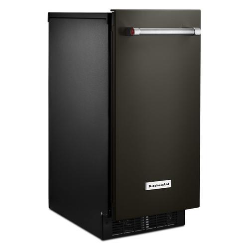 KitchenAid - KitchenAid® 15'' Automatic Ice Maker with PrintShield™ Finish - Black Stainless Steel with PrintShield™ Finish