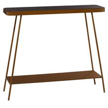 """MTL GLASS CONSOLE TABLE 43.5""""W, 34""""H"""