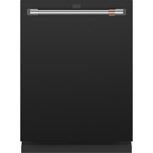 Café Stainless Interior Built-In Dishwasher with Hidden Controls Matte Black
