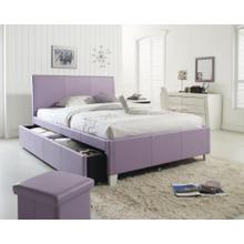 See Details - White Full Size Upholstered Trundle Bed