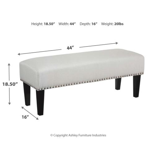 Beauland Accent Bench Ivory