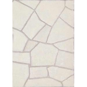 Durable Hand Carved Heavy Tile Shag Area Rug by Rug Factory Plus - 5' x 7' / Ivory